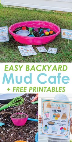 Backyard Mud Cafe: An Easy Outdoor Imaginative Play Idea for Kids kids activity outdoor play backyard summer imaginative 653092383442800782 Outdoor Activities For Toddlers, Summer Activities For Kids, Summer Kids, Camping Activities, Kids Activity Ideas, Art Activities, Babysitting Activities, Water Activities, Indoor Activities