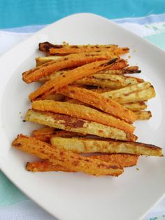 Hummus Coated Carrot and Parsnip Fries
