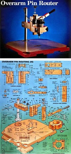 Pin Router Plans - Router Tips, Jigs and Fixtures - Woodwork, Woodworking, Woodworking Plans, Woodworking Projects Router Tool, Router Woodworking, Woodworking Shop, Woodworking Projects, Home Tools, Diy Tools, Joinery Tools, Woodworking Tools For Beginners, Intarsia Woodworking