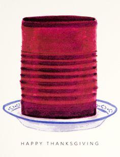 """Thanksgiving Cranberry"" card by Dear Hancock"