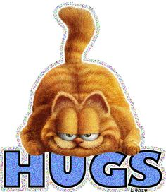 Garfield hugs!