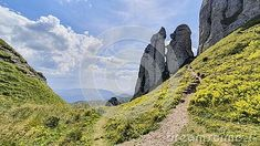 Amazing rock formations as seed during a hiking trip in Ciucas Mountains, Romania.  #ciucas mountains, rock formation, #romania, #carpathians, #hiking, #trail, sky, summer