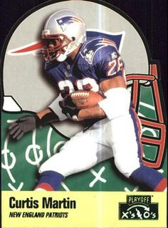 1996 Playoff Prime - X's and O's #130 Curtis Martin Front