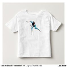 The Incredible's Frozone ice skates Disney Toddler T-shirt. Beautiful Disney The Incredibles merchandise to personalize. Cool Super Powers, Disney Incredibles, Disney Pixar, Consumer Products, Personalized Products, White Shop, Basic Colors, Ice Skating, Stay Warm