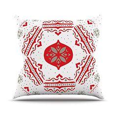 "Kess InHouse Miranda Mol ""Snowjoy White"" Red Throw Pillow, 26 by 26-Inch Kess InHouse http://www.amazon.com/dp/B00PCF7RMC/ref=cm_sw_r_pi_dp_K.Fzub1D3K6VJ"