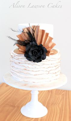 Great Gatsby inspired 40th birthday cake by Alison Lawson Cakes www.alisonlawsonc...