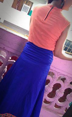 Crop Top With A-Line Skirt {Back} Waist Skirt, High Waisted Skirt, A Line Skirts, I Dress, Designer Dresses, Crop Tops, Collection, Fashion, Moda
