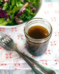 Just made my first homemade salad dressing! Essential Recipe: Balsamic Vinaigrette Recipes from The Kitchn Balsamic Vinegarette, Balsamic Vinaigrette Recipe, Balsamic Dressing, Vinaigrette Dressing, Salad Dressing Recipes, Salad Recipes, Salad Dressings, Drink Recipes, Homemade Dressing