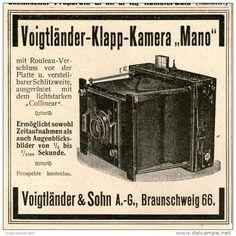 Original-Werbung/Inserat/ Anzeige 1902 - VOIGTLÄNDER KLAPP-CAMERA MANO - ca. 90 x 90 mm