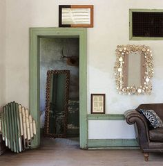 A room of picture frames and mirrors :)