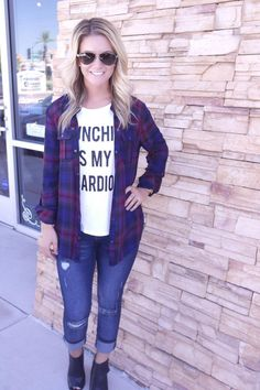 Canadian Plaid Flannel from Junky Trunk Boutique