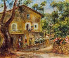 Escena campestre del pueblo de Cagnes.August Renoir