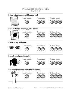 rubrics for kindergarten projects - Google Search