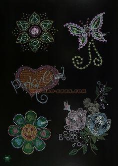 Каталог эскизов - для точечной росписи, декора стразами, вышивки, вышивки бисером. Обсуждение на LiveInternet - Российский…