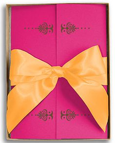 pink and orange wedding invitations