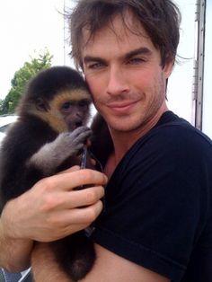 Ian somerhalder and monkey - Google Search