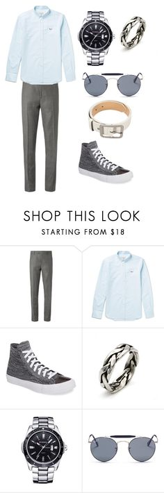 """""""And I take a deep breath and I get real high"""" by slowsilence20 ❤ liked on Polyvore featuring Maison Kitsuné, Converse, Curren and Ray-Ban"""