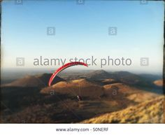 Download this stock image: Paragliding Puy de Dome Auverge France - S0NERF from Alamy's library of millions of high resolution stock photos, Stock Photo, illustrations and vectors.