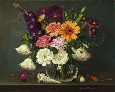 натюрморт цветы с морских раковин