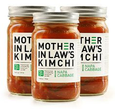 Found it @Whole Foods Market in Napa. The clean label (a spice!) lured me in! Kimchi.   Not really but a great yet simple packaging concept to emulate.