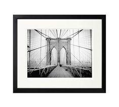 "New York Times Archive Framed Photography, Brooklyn Bridge - 1914, 18 x 15"", Black"