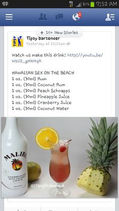 Hawaiian sex on the beach