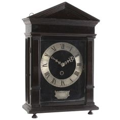 Ebony And Silvered So-called 'hague Clock', By Christiaan Reynaert 1