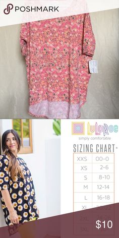 03567843 NEW LuLaRoe Large Irma NEW LuLaRoe Large Irma Brand new with tags 2nd  picture is the