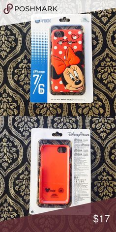 Minnie Mouse iPhone 7/6S Case 🎀📱 📱Minnie Mouse is cheerfully displayed in this faux leather iPhone case.                                                       📱This iPhone 7/6S case retails for $34.99 + tax ($37.61). It is in perfect condition, brand NWT, and comes from a smoke-free, pet-free home. Disney Accessories Phone Cases