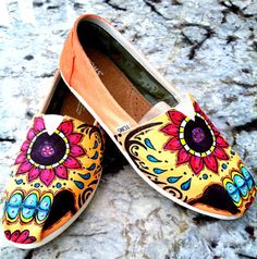 Hand Painted Shoes on Pinterest | Painted Toms, Tom Shoes ...
