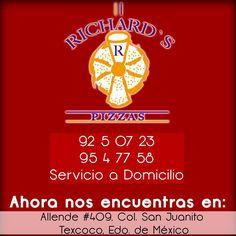 ¿Quieres comer algo rico y rápido? Tenemos las mejores pizzas en la zona!  Y con servicio a domicilio! http://negocilibre.com/directorio/pizzas-richards-en-texcoco/ https://www.facebook.com/PIZZASRICHARDSTEXCOCO/?fref=ts