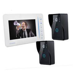 7 Inch Rain-proof Intercom Video Doorbell With 2 Outdoor Camera  #Affiliate