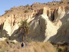 Badlands cerca de Rambla Salada. Terrenos baldíos característicos de algunas zonas de Murcia