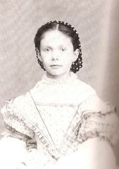 Isabella, daughter of Queen Isabel (Isabella) II of Spain, as a child.