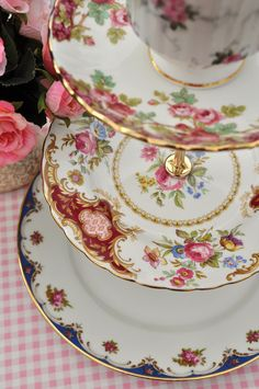 Rosey Shabby Chic 3 Tier Cake Stand | by cake-stand-heaven