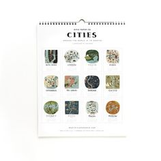 2013 Cities Calendar, $23, now featured on Fab.