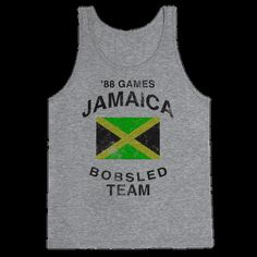 Support the Jamaica Bobsled Team with this tank.