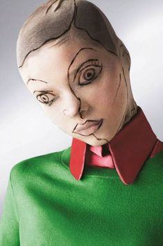 Makeup by Iasamaya French, could be the creepiest idea yet.