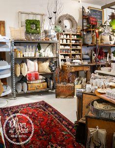 A vintage woodland Christmas shop display