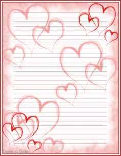 Printable Valentine Stationary | Printable Heart Stationary