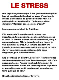 le-stress-une-psychologue Positive Quotes For Life Happiness, Positive Thoughts, Book Quotes, Life Quotes, French Love Quotes, Staff Motivation, Quote Citation, Love Phrases, Stress Less