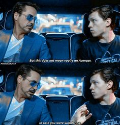 """Don't do anything I would do. And definitely don't do anything I wouldn't do. (Tony Stark, Peter Parker, """"Spider-Man: Homecoming"""")"""