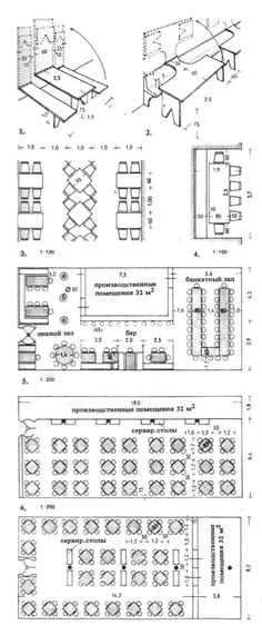 Столовые. Кафе. Рестораны. Строительное проектирование. Эрнст Нойферт, Bauentwurfslehre. Ernst Neufert
