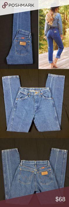 45769856 Vintage Wrangler High Waist Western Festival Jeans Vintage Women's Wrangler  High Waist Cowboy Western Festival Jeans