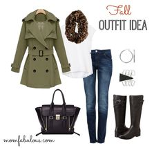 Outfit Idea of the Day : Outfit Idea for fall. This ensemble features a few basic pieces and will hep you pull together the perfect outfit for strolling through those fall leaves. #OOTD #Fashion