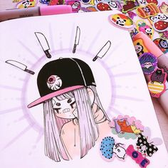 Crisalys is a Chilean artist interested in Illustration art. She often emphasizes sneakers in her drawings. Amazing Drawings, Cute Drawings, Posca Art, Tumblr Art, Illustration Art Drawing, Cute Art Styles, Aesthetic Drawing, Marker Art, Kawaii Art
