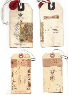 vintage packaging tags