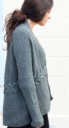 Cardigan free knitting pattern