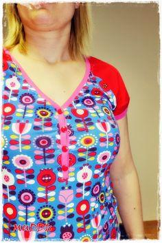 Tutorial am ein Raglan Shirt mit Knopfleiste zu nähen (ohne Schnittmuster)