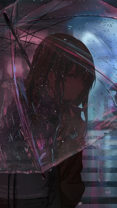 Anime, Girl, Umbrella, Raining, click image for HD Mobil Kawaii Anime Girl, Sad Anime Girl, Anime Art Girl, Anime Girls, Fanarts Anime, Anime Characters, Fictional Characters, Aesthetic Anime, Aesthetic Art